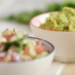 John Torode guacamole with tomato salsa recipe on John and Lisa's Weekend Kitchen
