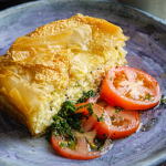 Simon Rimmer Tiropita with tomatoes and feta cheese recipe on Sunday Brunch