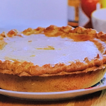 John Partridge cheese and onion pie with sweet potato recipe on John and Lisa's Weekend Kitchen