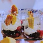 John Torode honeycomb with Chantilly cream recipe on John and Lisa's Weekend kitchen