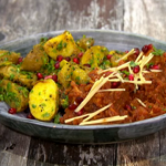 Nisha Katona jackfruit curry with poppy seed potatoes recipe on Sunday Brunch