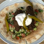 Simon Rimmer Beef Koftas With Tabouleh recipe on Sunday Brunch