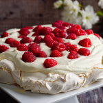 Clodagh McKenna Raspberry And Rosa Water Pavlova recipe on Sunday Brunch