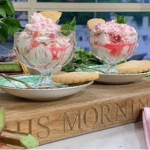 Alison O'Neill (The Yorkshire Shepherdess) rhubarb fool with shortbread biscuits recipe on This Morning