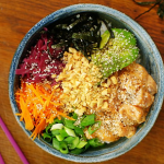 Nadiya Hussain salmon poke bowl with sushi rice recipe on Nadiya's Time to Eat