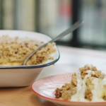 Lisa Faulkner apple crumble with pecan and hazelnuts recipe on John and Lisa's Weekend Kitchen