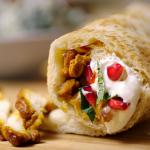 Nadiya Hussain chicken shawarma with coleslaw and flatbread recipe on Nadiya's Time to Eat
