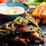 April Jackson s Honey-Jerk Chicken Wings With Cassava Chips recipe on Sunday Brunch