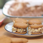 Lisa Faulkner vegan chocolate ice cream Sandwiches with silken tofu recipe on John and Lisa's Weekend Kitchen