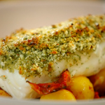 Nadiya Hussain zesty marmalade haddock with crispy roast potatoes recipe on Nadiya's Time to Eat