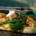 Simon Rimmer Vegan Tofu and Broccoli Kebab recipe on Sunday Brunch