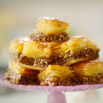 Nadiya Hussain sticky golden syrup baklava recipe on Nadiya's Time to Eat