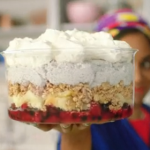 Nadiya Hussain chia with yoghurt and granola trifle recipe on Nadiya's Time to Eat