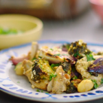 Nadiya Hussain peanut chicken traybake with gnocchi and Thai green curry paste recipe on  Nadiya's Time to Eat