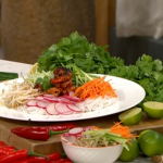 Ching's healthy prawn noodles recipe on This Morning