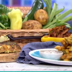 Phil Vickery tasty summer tapas with pork and beans recipe on This Morning