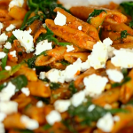 Dale Pinnock penne pasta with spinach and feta cheese recipe on Eat, Shop, Save