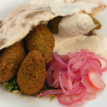 John Torode falafel with flatbread and tabbouleh salad recipe on Celebrity Masterchef