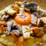 Tom Brown Smoked Haddock Mash, Wild Mushrooms and Egg Yolk recipe on Sunday Brunch