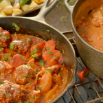 Cowboy meatballs and beans recipe on Hairy Bikers: Route 66