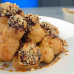 John Torode profiteroles with butterscotch sauce recipe on Celebrity Masterchef 2019