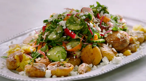 Jamie Oliver Roast New Potato With Pickle Salad Recipe On