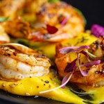 Simon Rimmer Old Bay King Prawns with Aioli recipe on Sunday Brunch