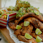 BBQ river fish with dirty corn and mango with avocado salsa recipe on Hairy Bikers: Route 66