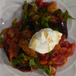 Simon Rimmer Butter Beans Baked with Aubergine and Spinach recipe on Sunday Brunch