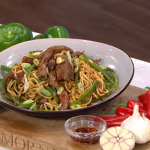 Ching's quick beef and black bean noodles recipe on This Morning
