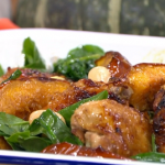 Phil Vickery chicken and pumpkin tray bake with spinach recipe on This Morning