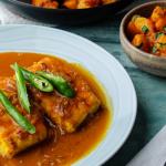 Asma Khan Bengali Fish Curry with Aloo Dum recipe on Sunday Brunch