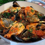 Angela Hartnett seafood stew with cherry tomatoes recipe on This Morning