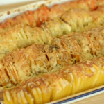 Priya Tew cheesy root vegetable bake recipe on Eat Well For Less?