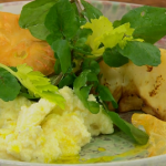 James Martin celeriac with truffle oil and watercress recipe on James Martin's Saturday Morning