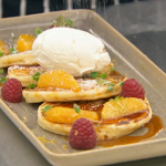 Marcus Wareing drop scones with a Suzette sauce and orange segments recipe on MasterChef The Professionals