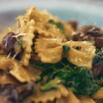 Gino D'Acampo farfalle pasta with spinach and mushrooms recipe on Gino's Italian Express