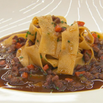 Monica Galetti hand-cut tagliatelle with a lamb ragu recipe on Masterchef The Professionals