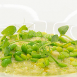 Monica Galetti vibrant green pea risotto recipe on MasterChef The Professionals
