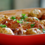 John Torode pork stew with pork chops and dumplings recipe on John and Lisa's Weekend Kitchen