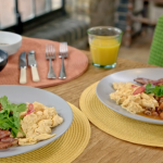Zoe's Ghanaian red red bean stew with scrambled eggs recipe on Nadia's Family Feasts