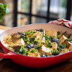 John Torode One Pot Thai Rice with Tofu and Aubergine recipe on John and Lisa's Weekend Kitchen