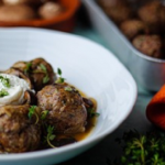 Simon Rimmer Duck Meatballs with Mushrooms recipe on Sunday Brunch
