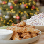 Nadia Sawalha buttermilk fried chicken with ranch dressing recipe on Nadia's Family Feasts