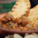 Gino D'Acampo sausage stew with garlic bread recipe on Gino's Italian Express
