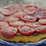 Rick Stein tarte tatin with confit tomatoes and confit of aubergines recipe on Rick Stein's Secret France