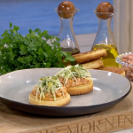 Tom Brown potted shrimp crumpet recipe on This Morning