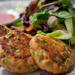 Tom Kerridge Thai fish cakes with carrot and cucumber salad recipe on Lose Weight and Get Fit with Tom Kerridge