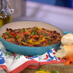 Jack Monroe spicy meatball and three beans pepper stew recipe on This Morning
