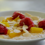 Tom Kerridge peach Melba overnight oats recipe on Lose Weight and Get Fit with Tom Kerridge